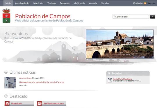 Bienvenidos a la web de Población de Campos
